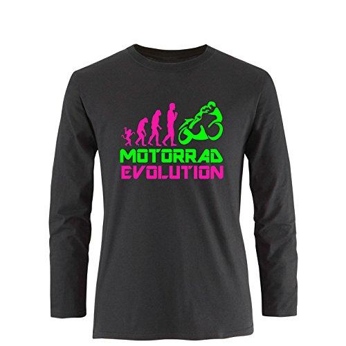 EZYshirt® Motorrad Evolution Herren Longsleeve Schwarz/Pink/Neongr