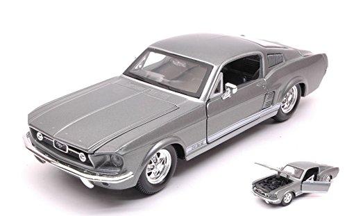 FORD MUSTANG GT 1967 GREY METALLIC 1:24 - Maisto - Auto Stradali - Die Cast - Modellino