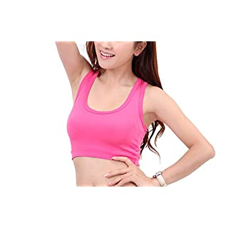 Ayouyou Damen sportlich Weste Gym Sport übt Yoga Unterwäsche Women Sports bra Tops