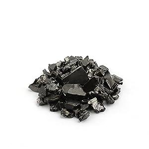 Shungit-Elite-Steine für die Wasseraufbereitung, 100 Gramm Silbernschimmernder Roher Elite Edle Shungit-Splitt für Wasserreinigung | Natürliche und Authentische Nuggets aus Karelien, Russland | 100 g