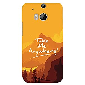 ColourCrust HTC One M8 Mobile Phone Back Cover With Take Me Anywhere Travellers Choice - Durable Matte Finish Hard Plastic Slim Case