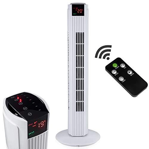 AERSON Turmventilator 80cm Weiß | Säulenventilator | Towerventilator | Standventilator | Oszillationsfunktion | Timerfunktion | 59,8 dB(A) max