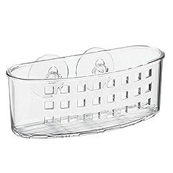 InterDesign Plastic Suction Bath Caddy, Clear