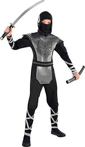 Ninja Samurai Krieger Heulender Wolf Kostüm Kinder Gr. 134