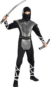 Christys London Disfraz de Ninja Lobo para niños y Adolescentes en Varias Tallas