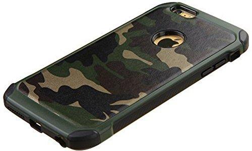 Iphone 7plus case, antiurto armatura ibrido robusto camouflage custodia per apple iphone 7plus–camo verde