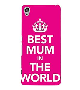 Best Mum In The World 3D Hard Polycarbonate Designer Back Case Cover for Sony Xperia XA :: Sony Xperia XA Dual