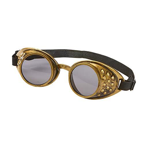 Widmann 01788 Brille Steampunk Retro, Unisex– Erwachsene, Bronze, Einheitsgröße
