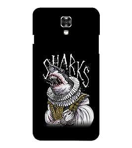 EPICCASE sharks Mobile Back Case Cover For LG X Power (Designer Case)