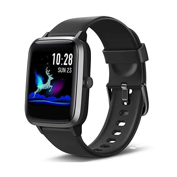 Lintelek Smartwatch de Pantalla táctil,Pulsera Actividad con Monitor de Pasos, Calorías, Sueño y Ritmo Cardíaco, Reloj… 1
