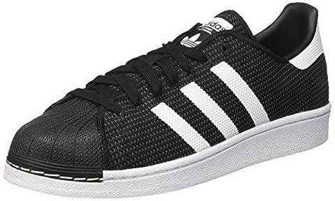 adidas Herren Superstar Sneaker, Schwarz (Core Black/Footwear White/Footwear White), 39 1/3 EU