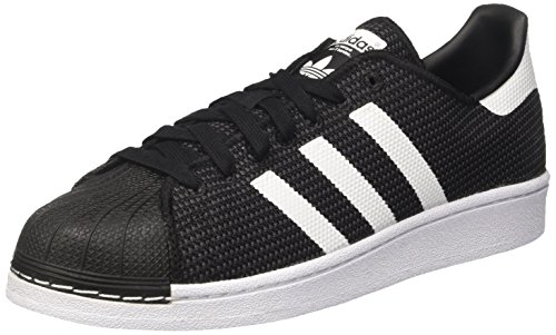 adidas Herren Superstar Sneaker, Schwarz (Core Black Footwear White), 42 2/3 EU -