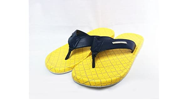 e883419a0392 BOSS Hugo Shoreline IV Filp Flops Sandals Yellow   Navy (11)  Amazon.co.uk   Shoes   Bags