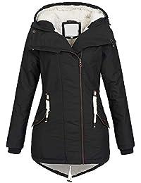 Azuonda Damen Winter Jacke Mantel Winterjacke Parka Wintermantel warm  gefüttert Teddyfell Az98 XS-XXL d39b7b07c3