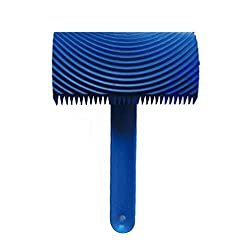 Magideal Wood Graining Pattern Rubber Painting Tool with Handle Wall Decor Blue#04