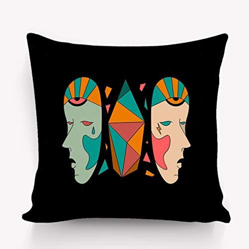 zexuandiy Kissenbezüge Vintage Throw Pillow Cushion Cover,Modern Image Art,18