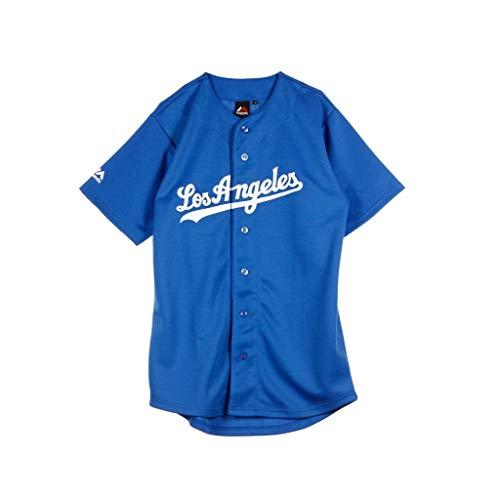Majestic Los Angeles L.A. Dodgers MLB Trikot Jersey Road blau (XL)