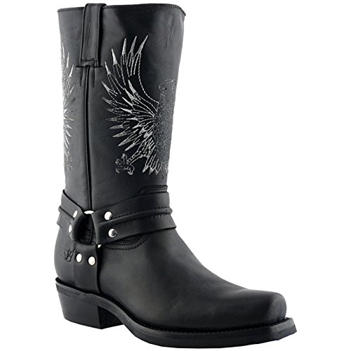 Grinders Mens 283 Bald Eagle Leather Boots