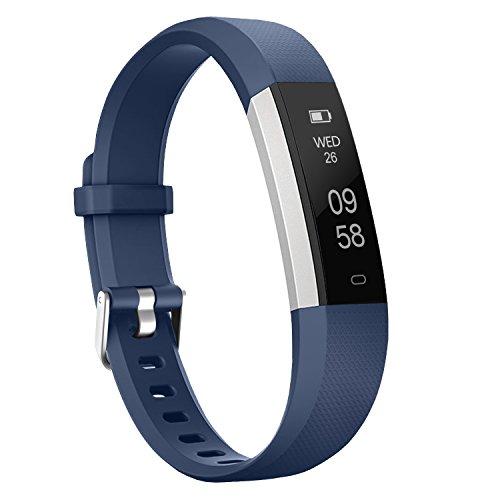 moreFit Slim 2 Fitness Tracker Bluetooth Smart Armband Uhr Touchscreen Schrittzähler Armband mit Schnalle für iphone 8/7/7 Plus / 6 / Samsung S8 / Galaxy / IOS / Android, Blau (Männer Sport-uhren Für Nike)