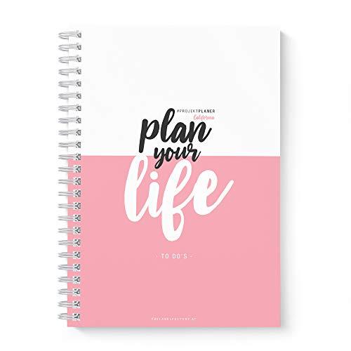 TO DO Liste - Tages-Planer California Lines · the Label Factory by favlov · Wochen-Tages-Projektplaner zum Abhaken mit TO DO Liste · DIN A5 100 Seiten, 90 g/m², liniert, rosa/schwarz