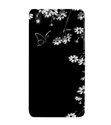 printtech Flower Butterfly Back Case Cover for HTC Desire 816G dual sim