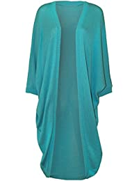 Neue Frauen Plus Size Kimono Fledermausärmel lange Wasserfall Cardigan Top 44-54