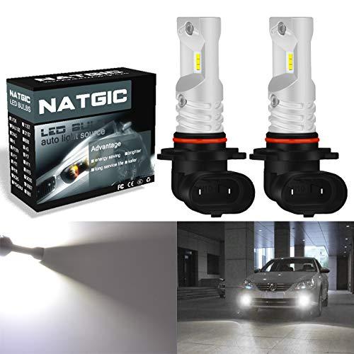 NATGIC H10 9145 9140 Ampoules antibrouillard à led blanc xénon 850LM CSP Puces pour antibrouillard avant, 12V-24V (lot de 2)