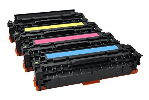 Preisvergleich Produktbild Freecolor CF380A/81A/82A/83A für HP CLJ Pro MFP M476, Rainbow Kit, Premium Toner, wiederaufbereitet 2400/2700 Seiten, bei 5% Deckung, schwarz