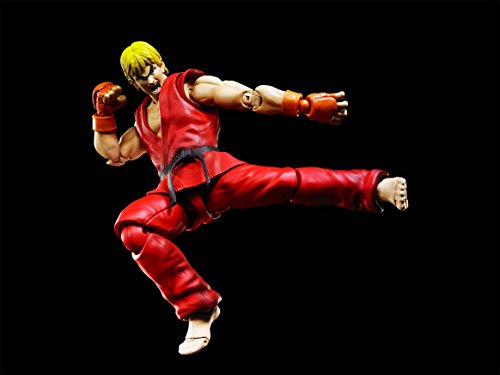 Bandai - Ken Masters Street Fighter Figuarts No.07, BDISF238942 4