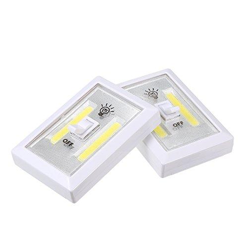 Lixada LED Interrupteur Mural Sans Fil Placard Sans Fil Nuit Lumière Lampe Multi-Usage Auto-Adhésif Pour Enfants Chambre Salle À Manger Chambre Adultes