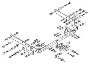 Attelage de remorque fixe Renault 19 Chamade 4portes 05/1992-1996 avec kit électrique inclus