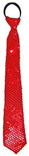 Rot Glitzer Kostüm - Glitzer Pailletten Krawatte zum Show Kostüm Rot