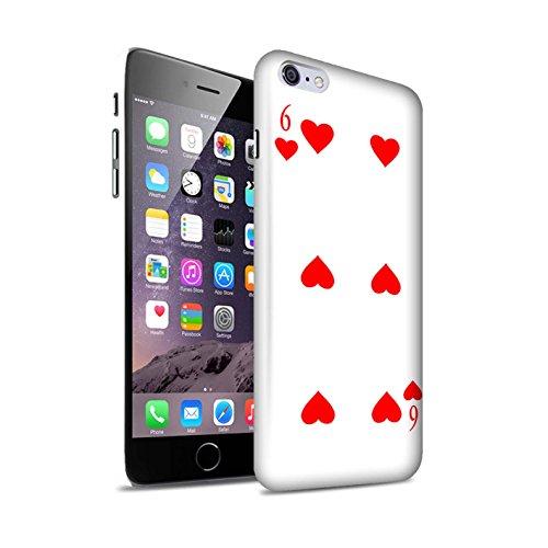 STUFF4 Matte Snap-On Hülle / Case für Apple iPhone 8 Plus / Herz-Ass Muster / Kartenspielen Kollektion 6 von Herz