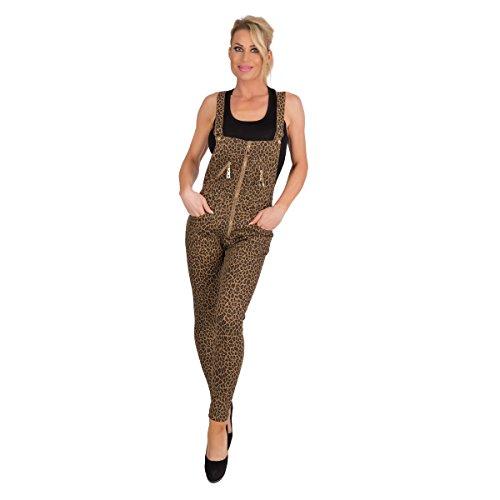 34-42 . 5354 Latzhose Röhrenhose pants Hose mit Trägern schwarz Damenhose Gr