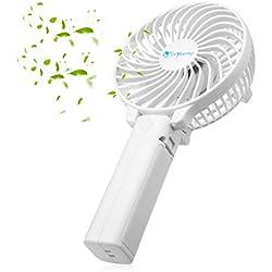 isYoung Mini Ventilateur Portable Mini Fan Pliable Usb Portable pour Camping, Bureau, Sport, Voyage en Été (Blanc)