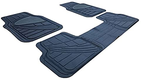 XtremeAuto® 3 Piece Waterproof Heavy Duty Rubber Car Mats - Includes XtremeAuto Sticker XA18