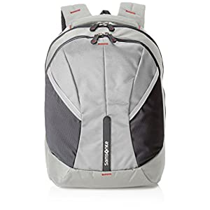 41QwLslRFhL. SS300  - Samsonite 4mation Laptop Backpack L Mochila Tipo Casual, 34 litros, Color Negro/Plateado, 45.5 cm