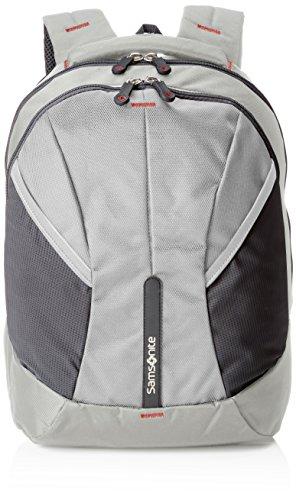 Imagen de samsonite 4mation laptop backpack m  tipo casual, 27 litros, color plateado/rojo, 43 cm