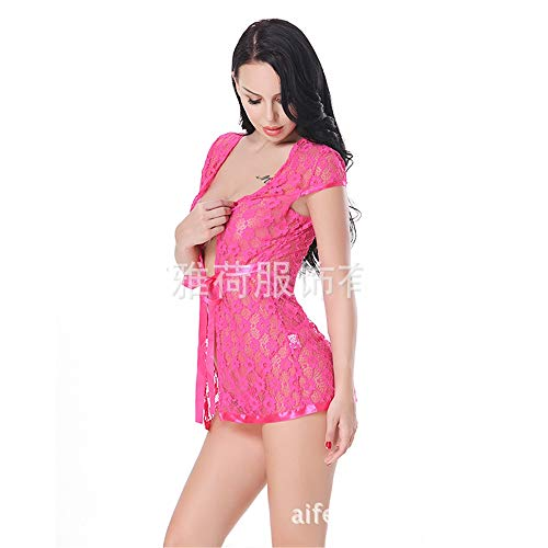 a7d8bbe223 Ropa Erótica Europe and The United States Sexy Underwear Ribbon Waist  Sleeveless Lace Sexy Pajamas