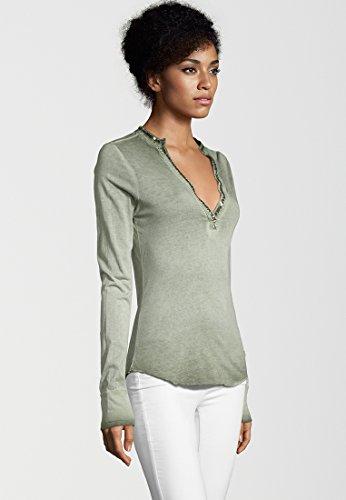 Damen Shirt Langarm Army Green