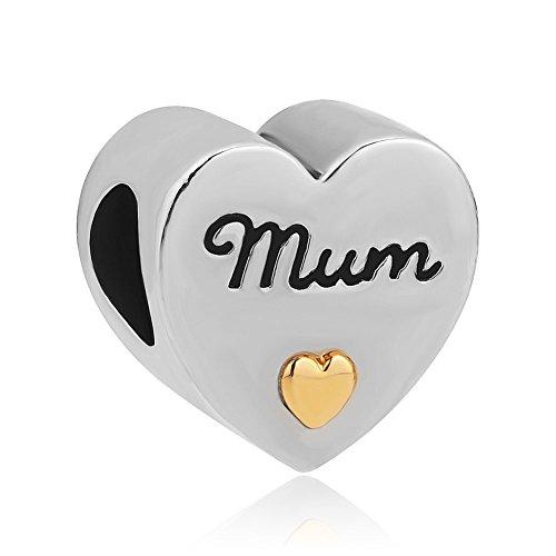 Sug jasmin - ciondolo per braccialetti a forma di cuore con scritte