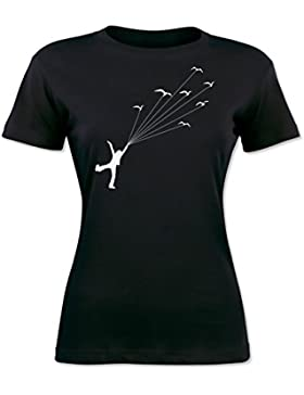Girl Lifted By Birds T-shirt da donna
