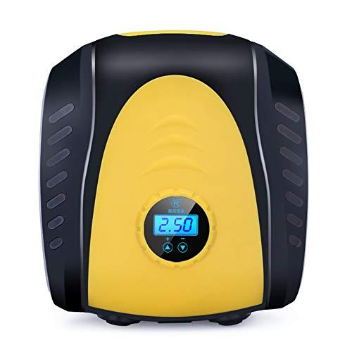 Tragbare elektrische Reifenfüller-Auto-Luftkompressor 120W Fahrzeug-Luft-Fahrt-Pumpe-Universalautomobil-Zubehör - Black & Yellow