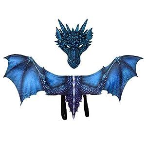 Nuevo Cosplay Juego de Trono Dragón Máscara de disfraz alas Adultos Disfraces de Halloween para mujeres hombres adultos… 3