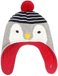 Happy cherry - Beanie de Invierno Sombrero de Punto para Bebés Unisex 0-4 Años con Earflaps Slouchy Knit Hat - Raposo/Pingüino