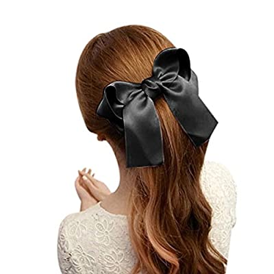 OverDose Women Girls Cute Large Big Satin Hair Hair Clip Boutique Ribbon Bow - cheap UK light shop.