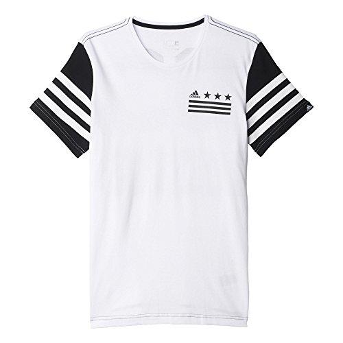 Adidas 03 Maglia da Uomo Bianco/Nero (Bianco/Nero)