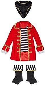 Reír Y Confeti - Fiapir009 - Disfraces para Niños - Traje de Pirata de Alta Mar Deluxe - Boy - Talla S