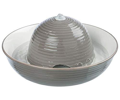 Trinkbrunnen Brunnen Vital Flow, Keramik 1,5 L Grau/Weiß Trixie -, Lebensmittel-Und Wasser-Tanks, Katzen, Nahrung, Wasser Und Leckereien Für Hunde -