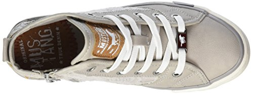 Mustang 5024507, Baskets Hautes Fille Gris (22 Hell Grau)